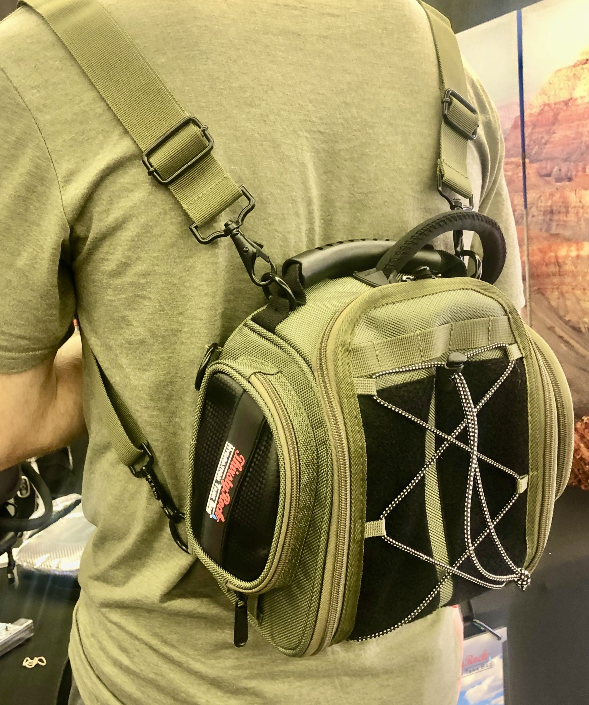 OffRoad Hydration Tank Bag (Military Green) with backpack straps