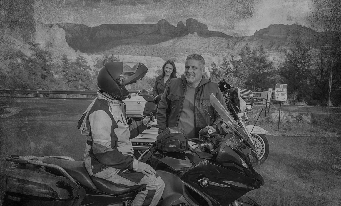 motorcyclists with ThirstyRock
