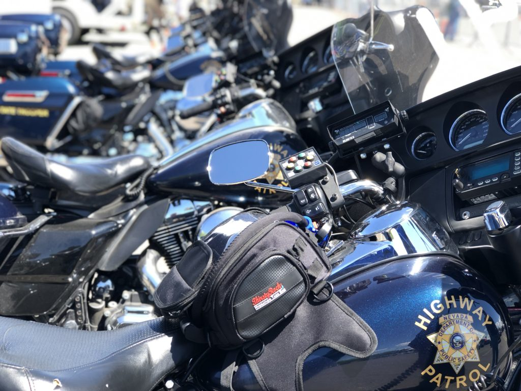 Highway Patrol Motorcycles with a ThirstyRock bag